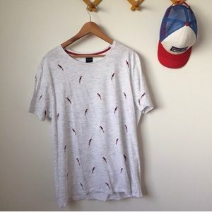 Embroidered Parrot Tee shirt